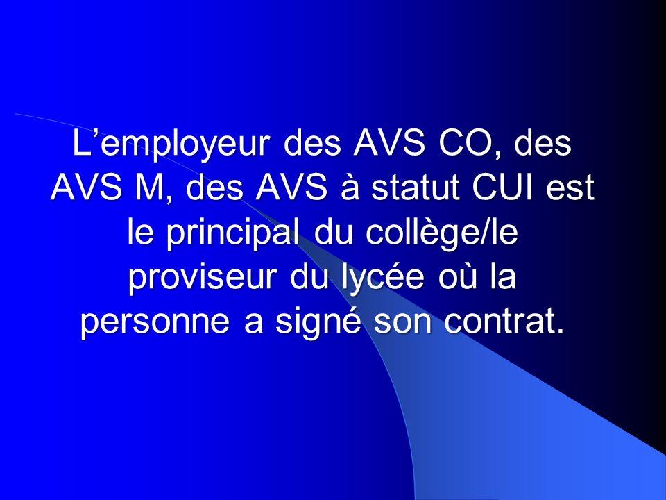 Absence de lAVS En cas dabsence, la procédure est la suivante : LAVS informe le directeur décole le plus rapidement possible puis son employeur.