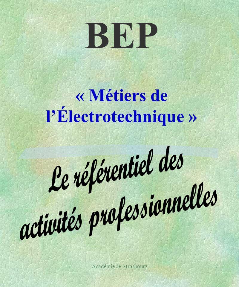 7 « Métiers de lÉlectrotechnique » BEP