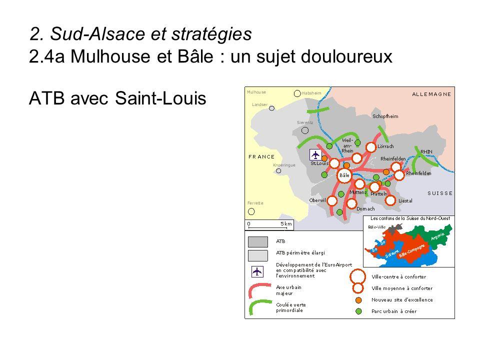 2. Sud-Alsace et stratégies 2.4a Mulhouse et Bâle : un sujet douloureux ATB avec Saint-Louis