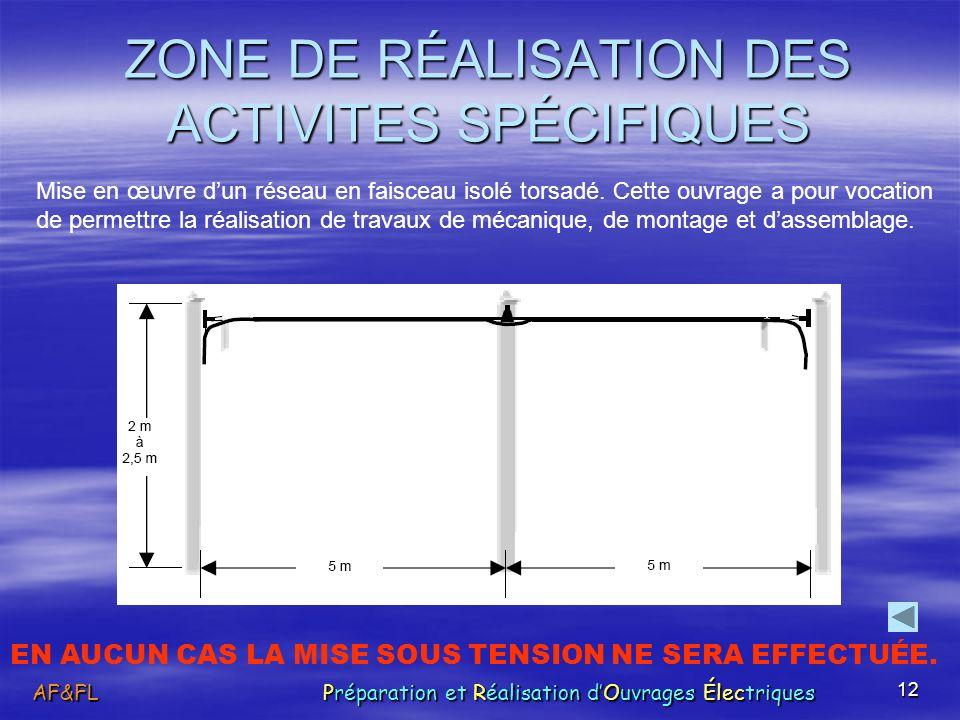 12 ZONE DE RÉALISATION DES ACTIVITES SPÉCIFIQUES Mise en œuvre dun réseau en faisceau isolé torsadé. Cette ouvrage a pour vocation de permettre la réa