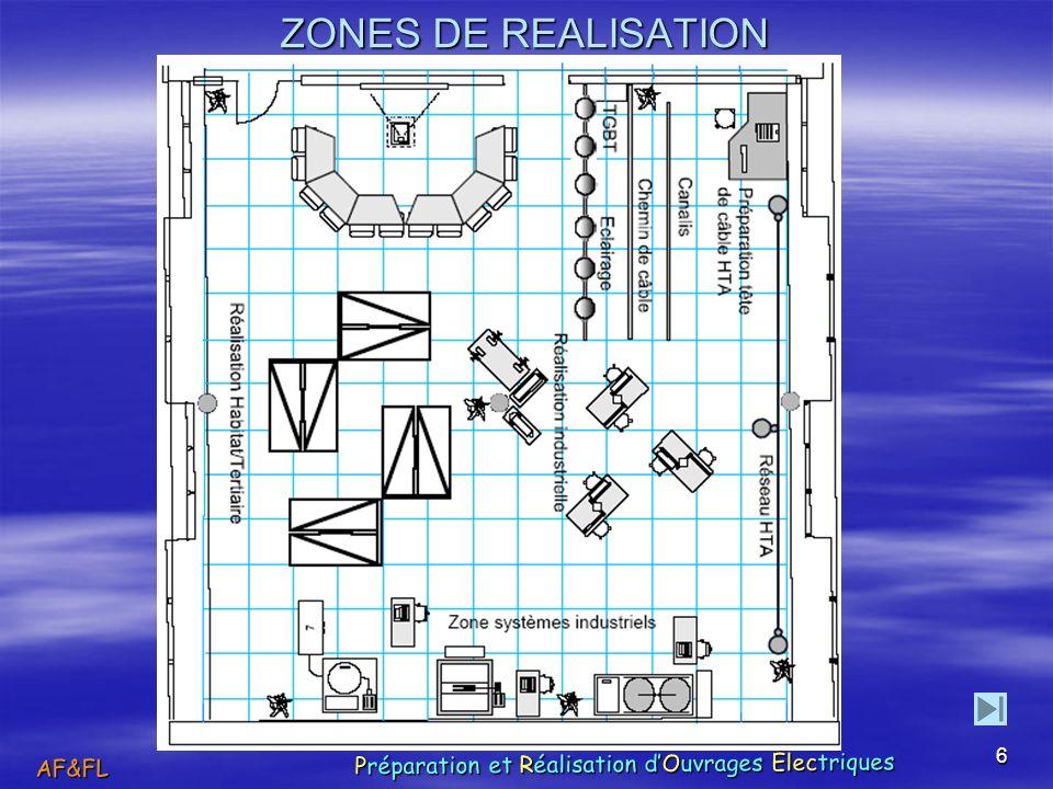 6 ZONES DE REALISATION AF&FL Préparation et Réalisation dOuvrages Électriques