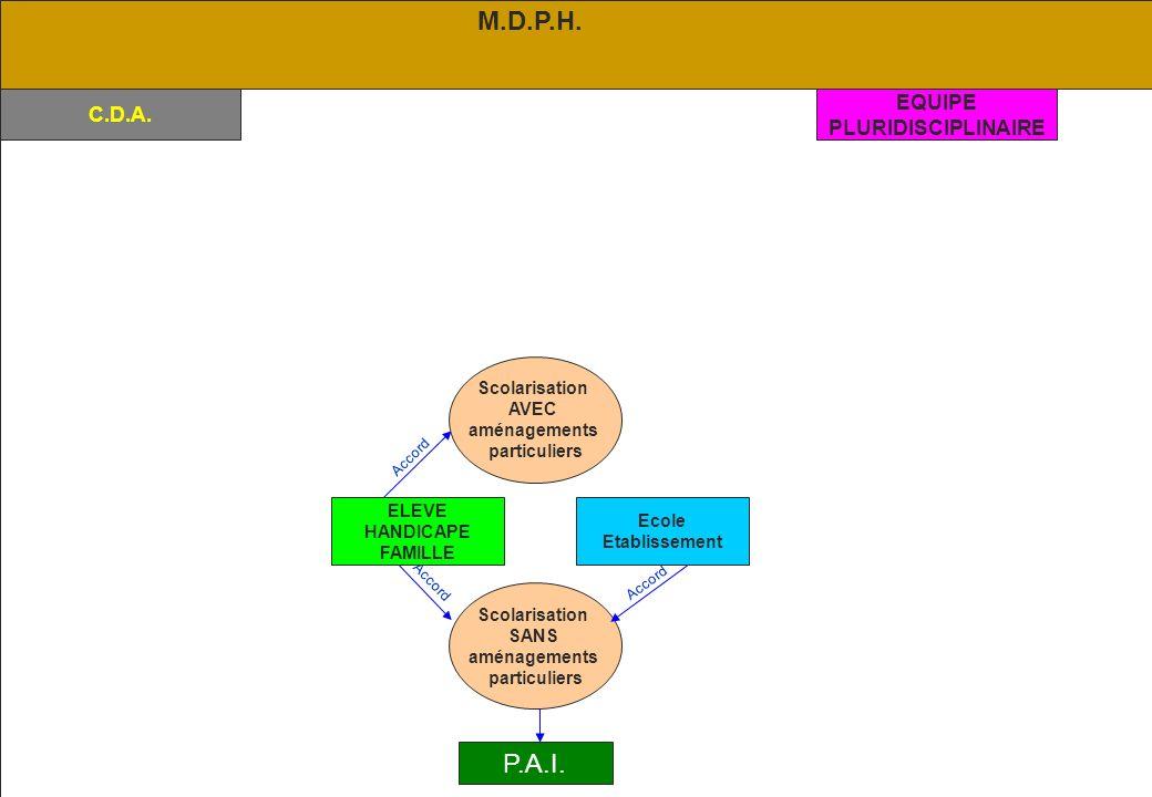 02/2006 CRIS 84 C.D.A.Accord Scolarisation SANS aménagements particuliers Accord P.A.I.
