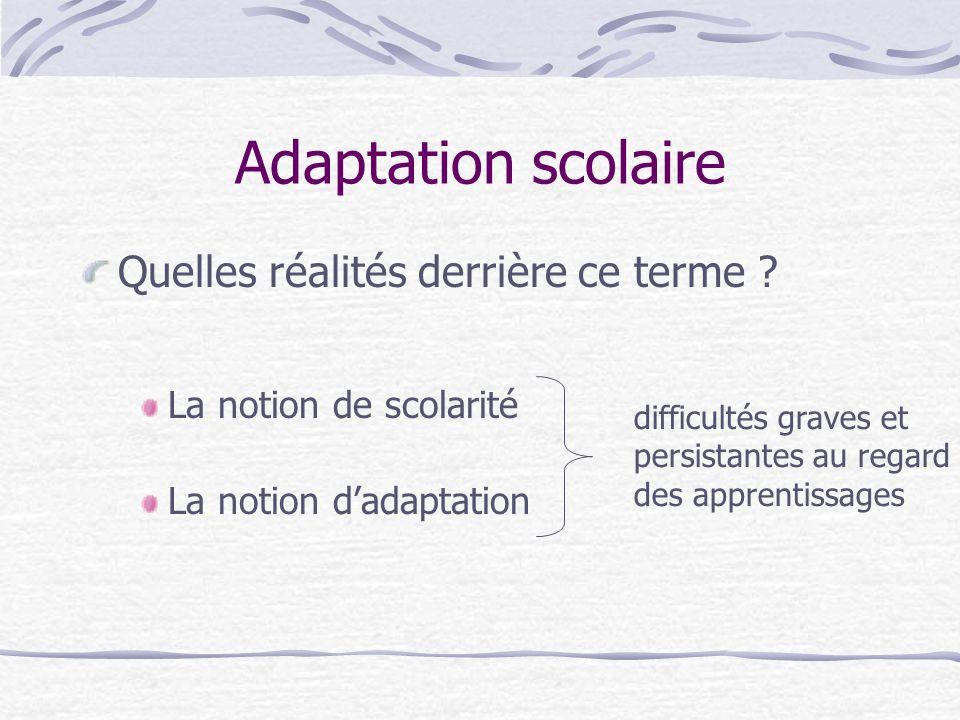 Adaptation scolaire et Scolarisation des élèves Handicapés Adaptation scolaire Scolarisation des élèves Handicapés