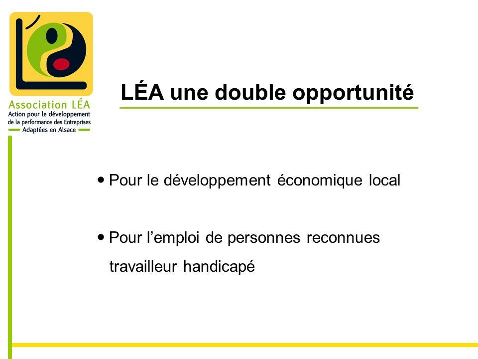 LÉA une double opportunité Pour le développement économique local Pour lemploi de personnes reconnues travailleur handicapé