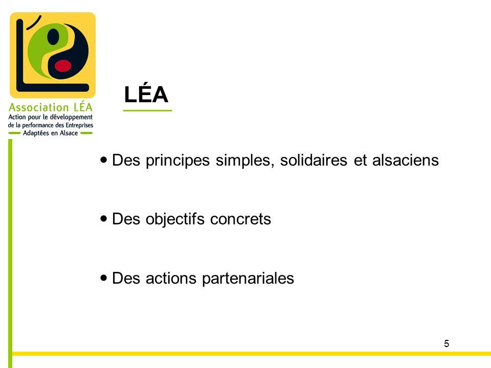 5 LÉA Des principes simples, solidaires et alsaciens Des objectifs concrets Des actions partenariales