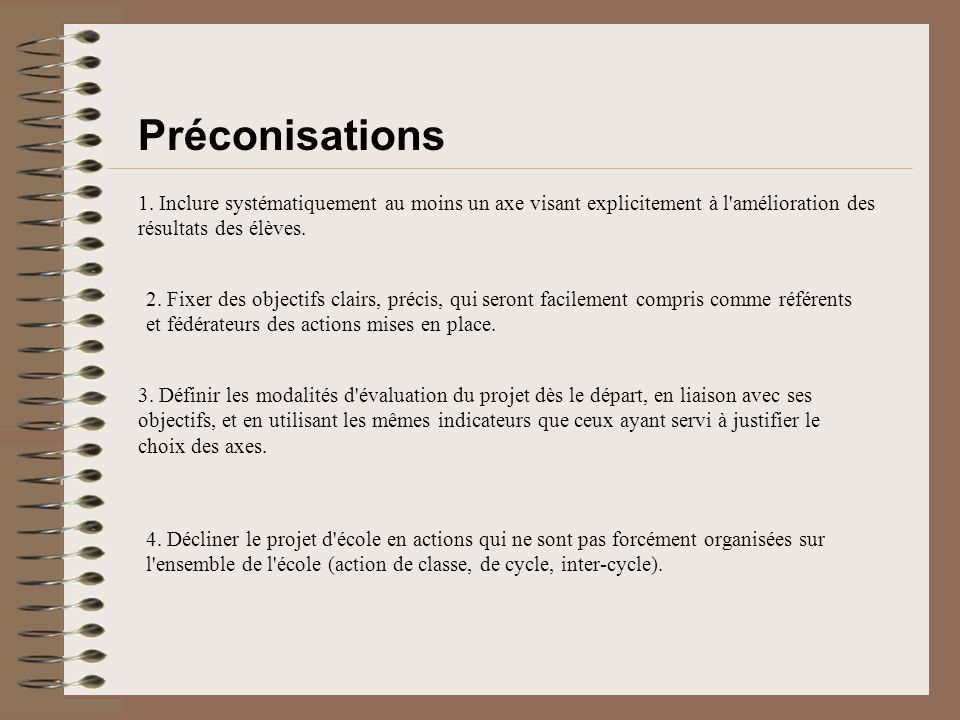 Préconisations 1.