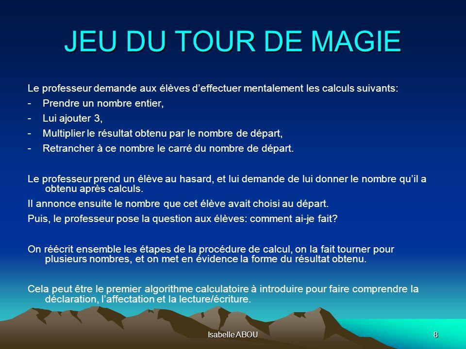 Isabelle ABOU69 PROBABILITES ET STATISTIQUES