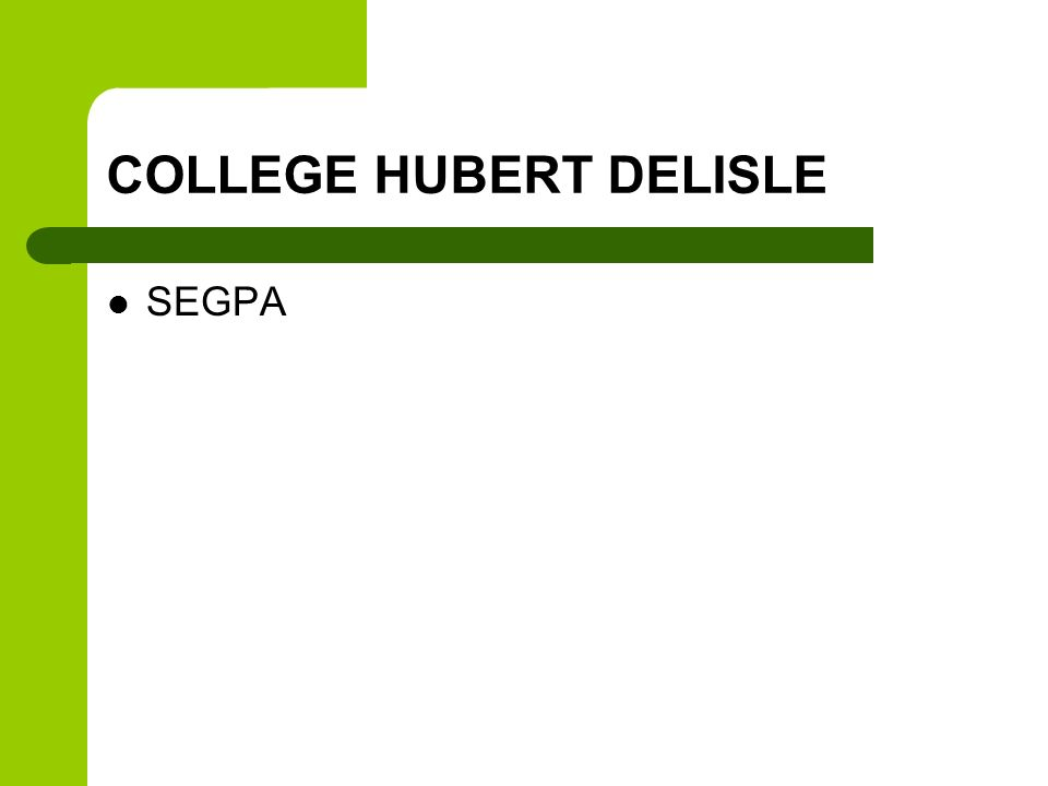 COLLEGE HUBERT DELISLE SEGPA
