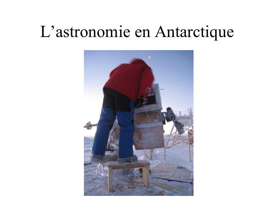 Lastronomie en Antarctique