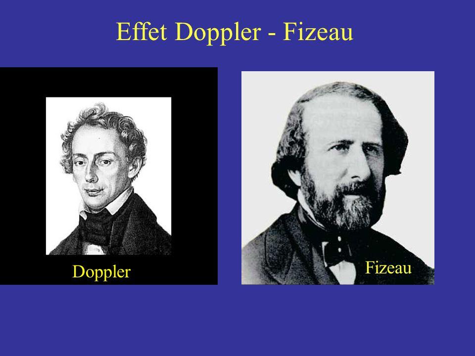 Doppler Effet Doppler - Fizeau Fizeau