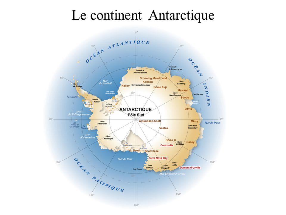 Le continent Antarctique