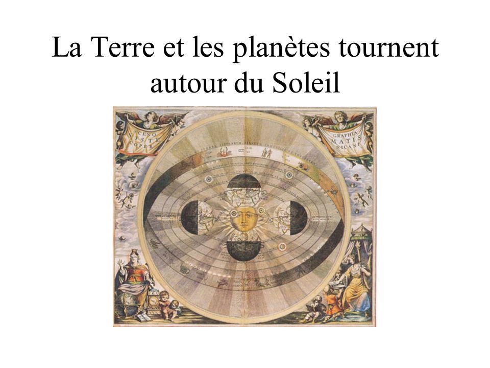 La Terre et les planètes tournent autour du Soleil