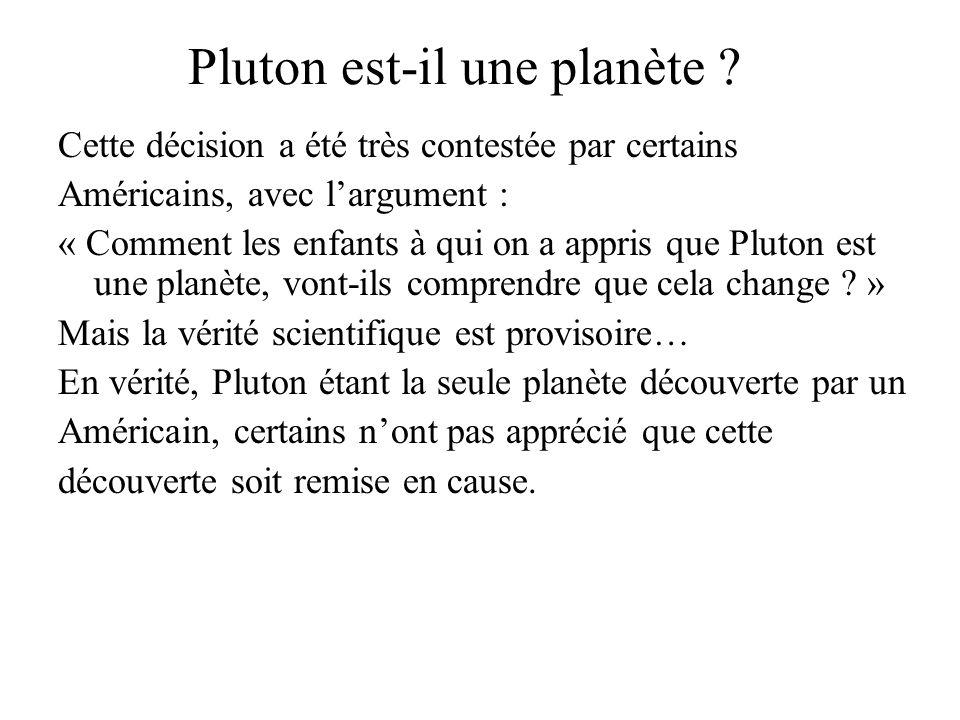 Pluton est-il une planète .