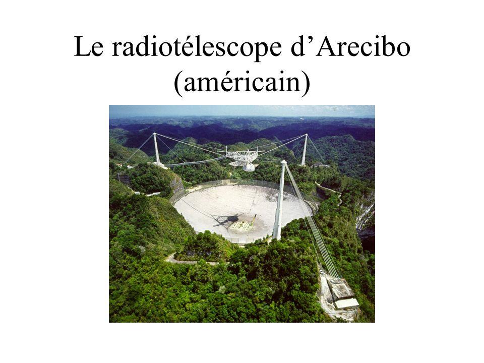 Le radiotélescope dArecibo (américain)