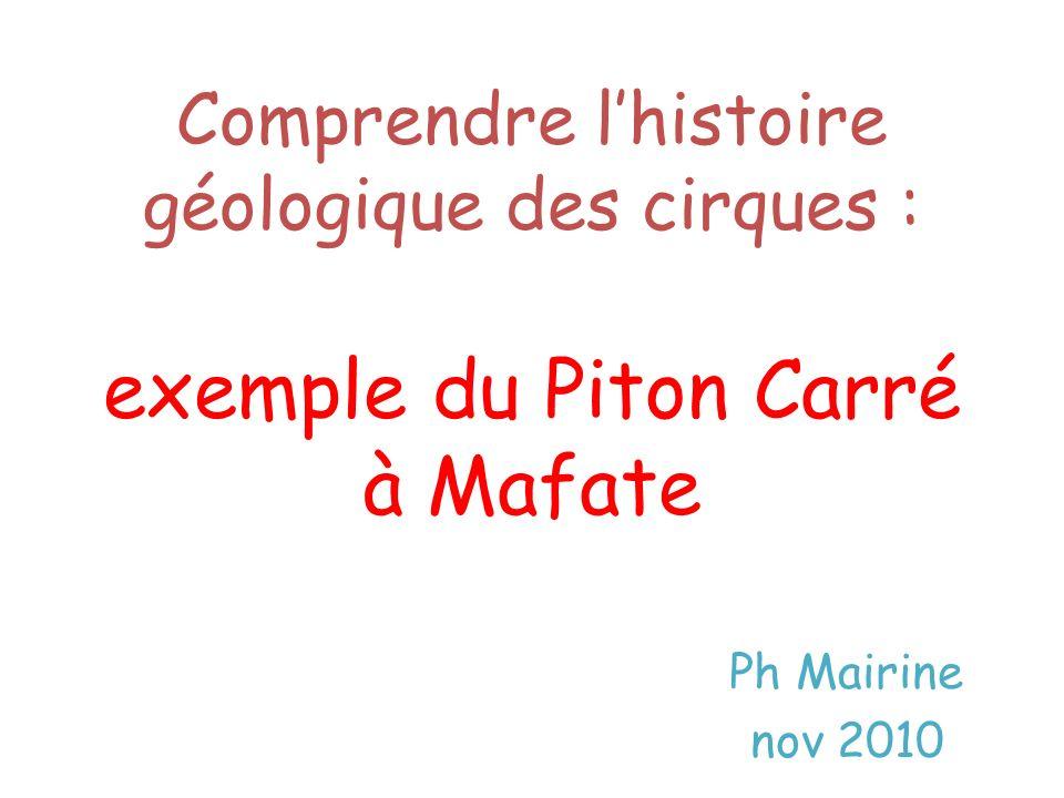 Episode 1 - Premières constructions volcaniques Le Piton des Neiges est sorti de l océan il y a plus de trois millions d années (3 Ma).