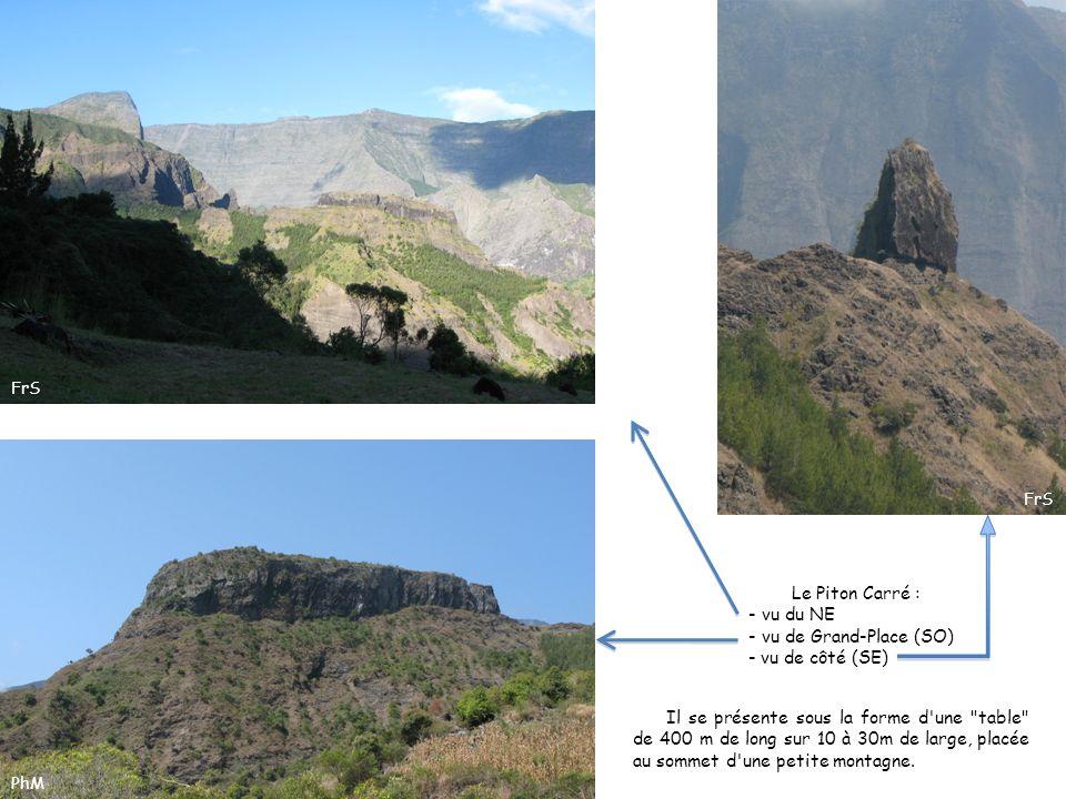 Les roches qui ont construit le Piton Carré et ses environs.