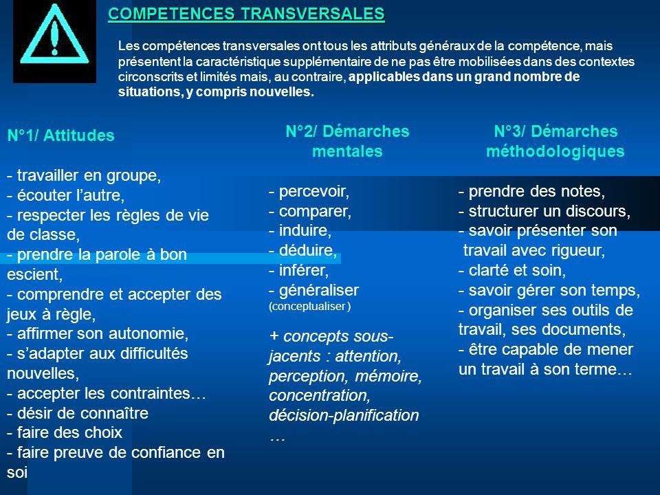 Les compétences transversales ont tous les attributs généraux de la compétence, mais présentent la caractéristique supplémentaire de ne pas être mobil