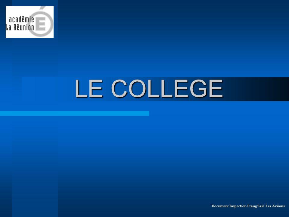 LE COLLEGE Document Inspection Etang Salé Les Avirons