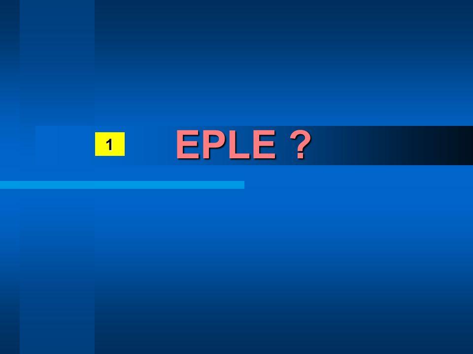 1 EPLE ?