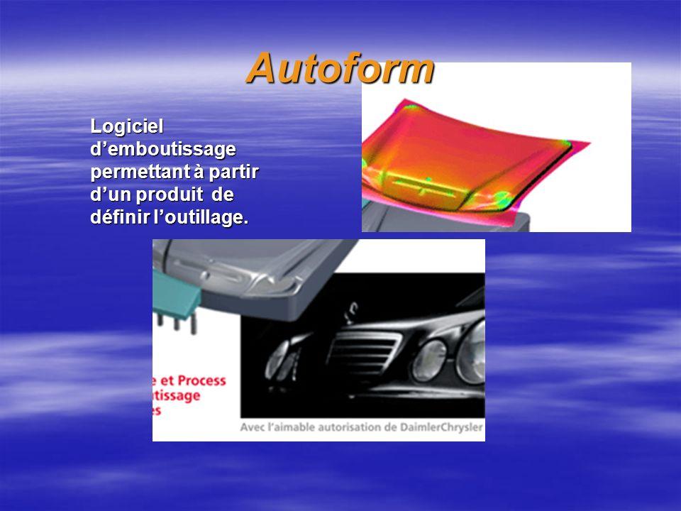 Autoform Logiciel demboutissage permettant à partir dun produit de définir loutillage.