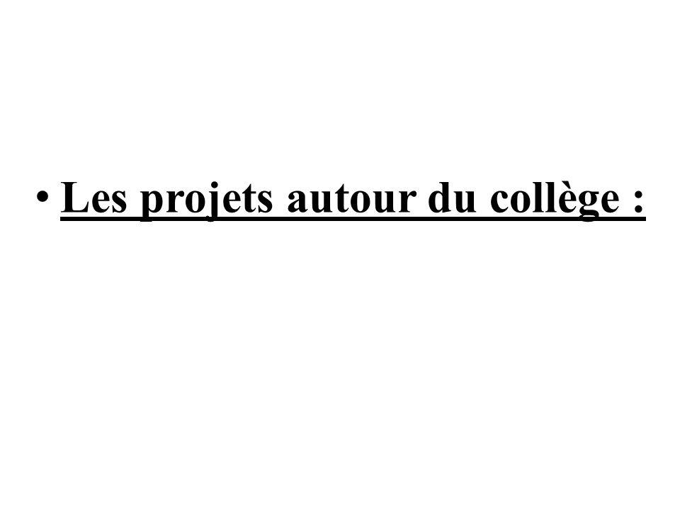 Les projets autour du collège :