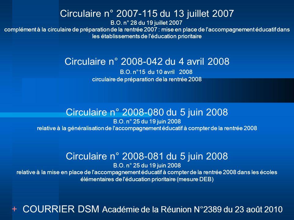Circulaire n° 2007-115 du 13 juillet 2007 B.O. n° 28 du 19 juillet 2007 complément à la circulaire de préparation de la rentrée 2007 : mise en place d