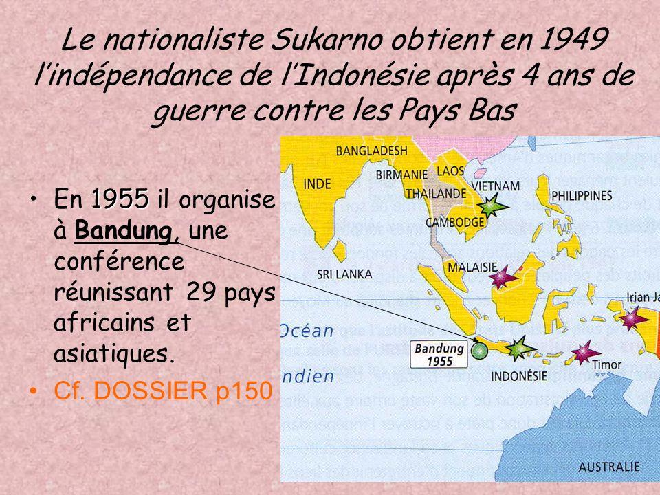 IndeNehru 1947 partition En Inde Gandhi et Nehru réclament lindépendance => 1947 partition de lEmpire des Indes britanniques la + grande colonie brita