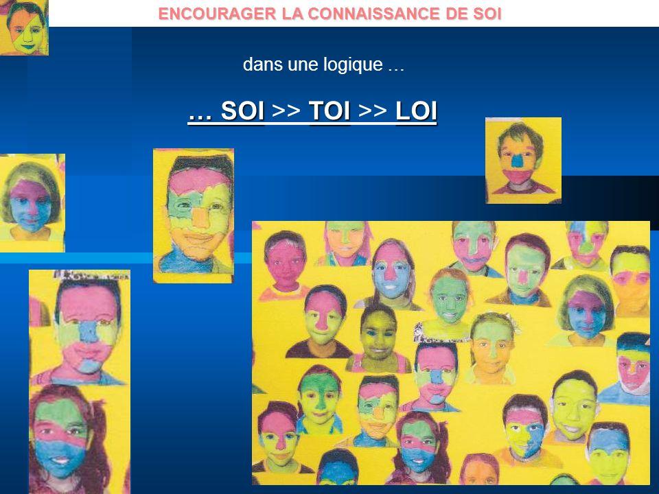 ENCOURAGER LA CONNAISSANCE DE SOI … SOITOILOI … SOI >> TOI >> LOI dans une logique …