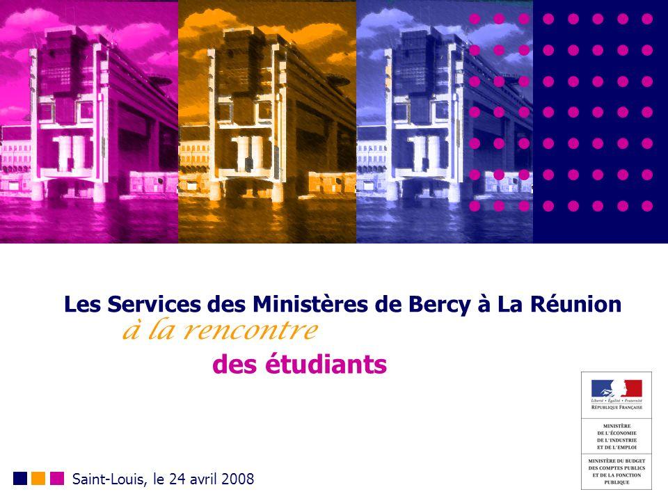 Les Services des Ministères de Bercy à La Réunion à la rencontre des étudiants Saint-Louis, le 24 avril 2008