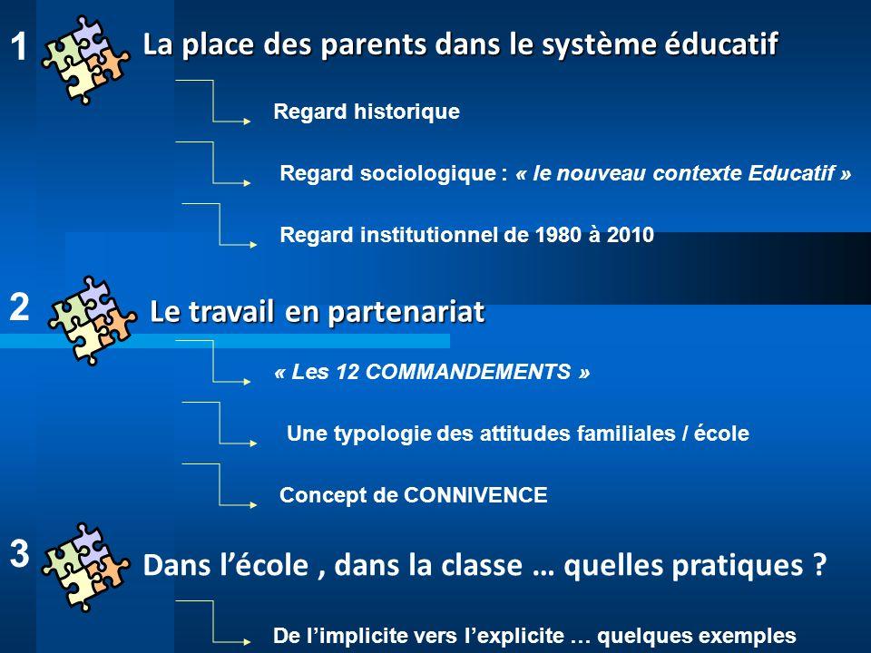 « Tout enfant a droit à une formation scolaire qui, complétant l action de sa famille, concourt à son éducation.