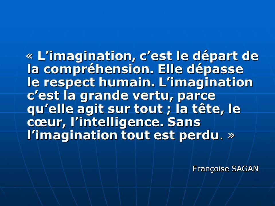 « Limagination, cest le départ de la compréhension.