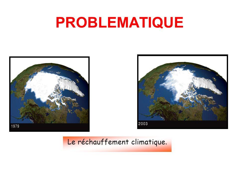 PROBLEMATIQUE Le réchauffement climatique.