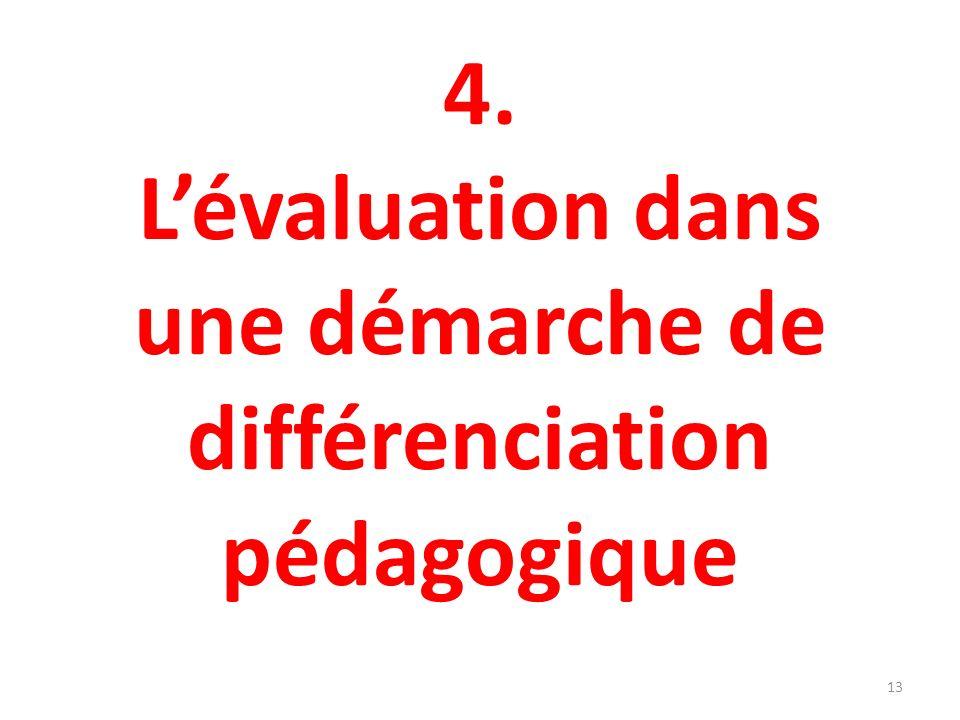 4. Lévaluation dans une démarche de différenciation pédagogique 13