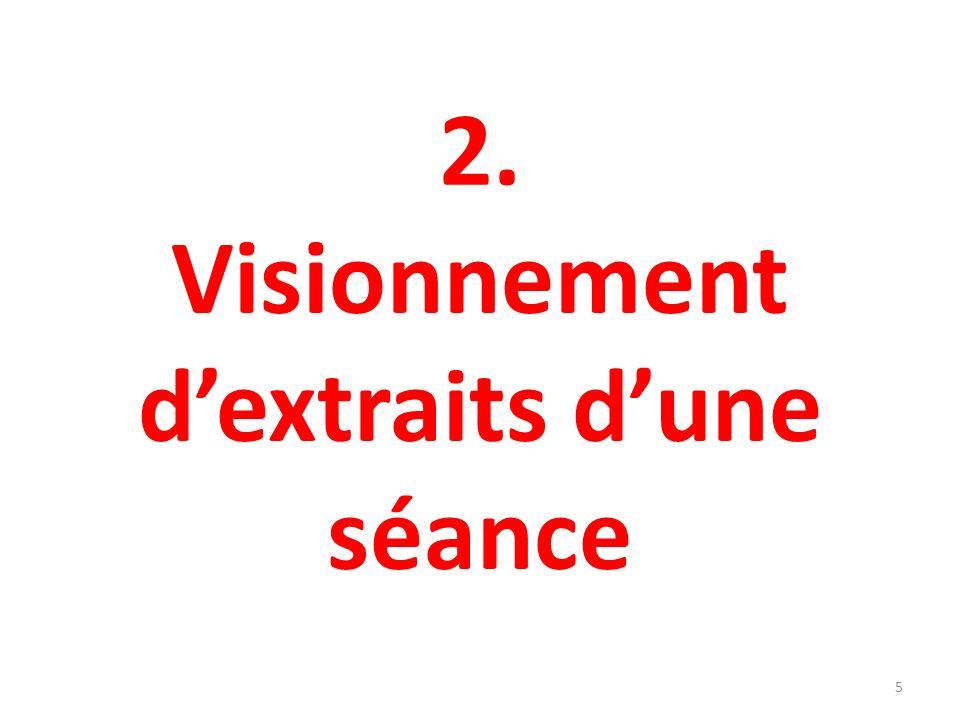 2. Visionnement dextraits dune séance 5