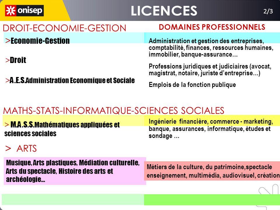 2/3 > Economie-Gestion > Droit > A.E.S. Administration Economique et Sociale DROIT-ECONOMIE-GESTION > M.A.S.S. Mathématiques appliquées et sciences so