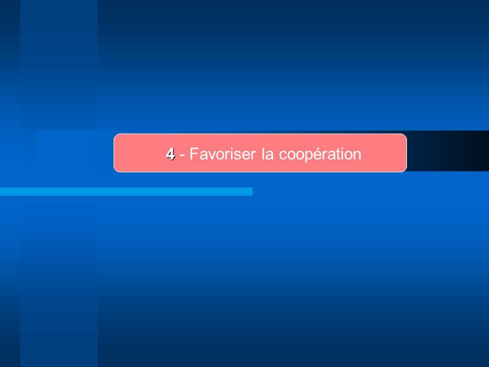 4 4 - Favoriser la coopération