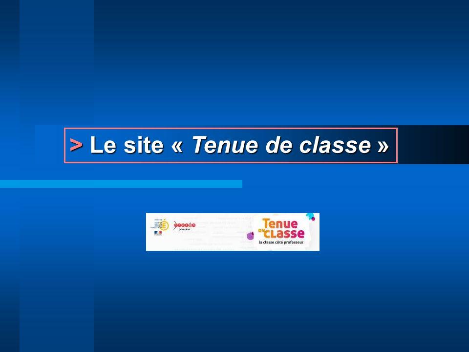 > Le site « Tenue de classe »