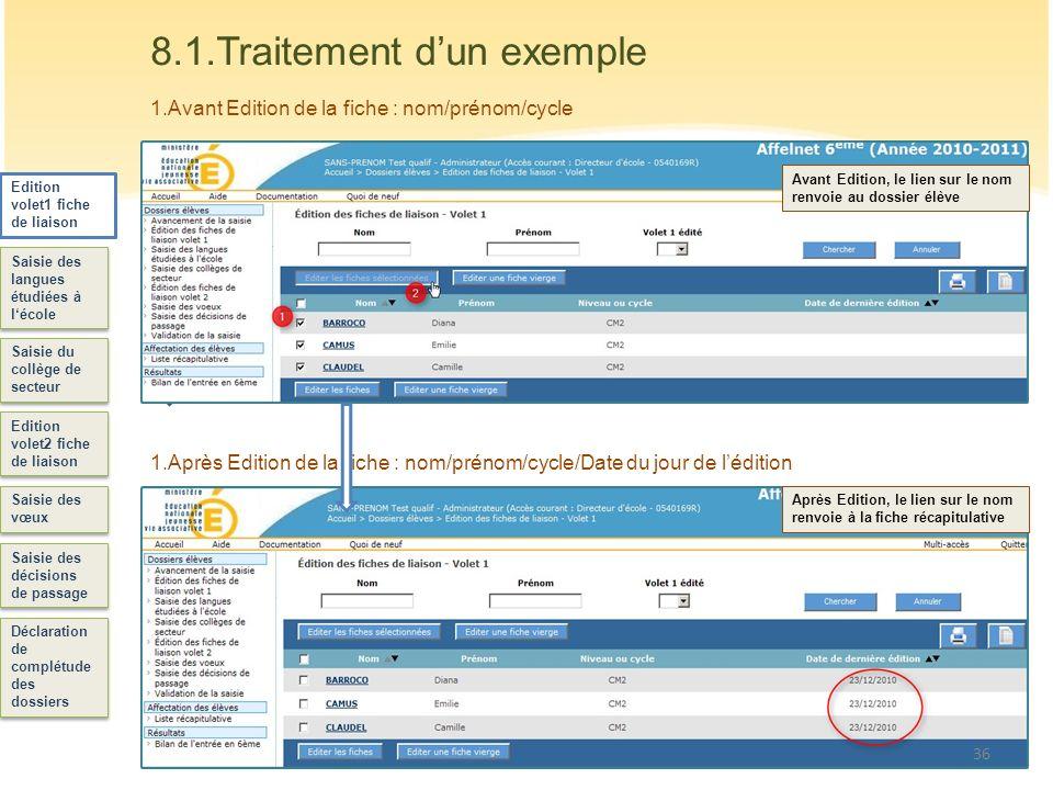 37 La Fiche Volet 1 Editée sera envoyée aux responsables de lélève : Les Responsables légaux vérifient les informations de la fiche.