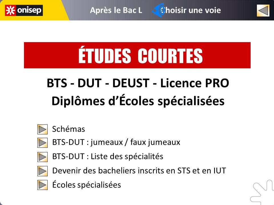 BTS 1 BTS 2 DUT 1 DUT 2 BTS DUT Diplôme décole Diplôme décole D.E.