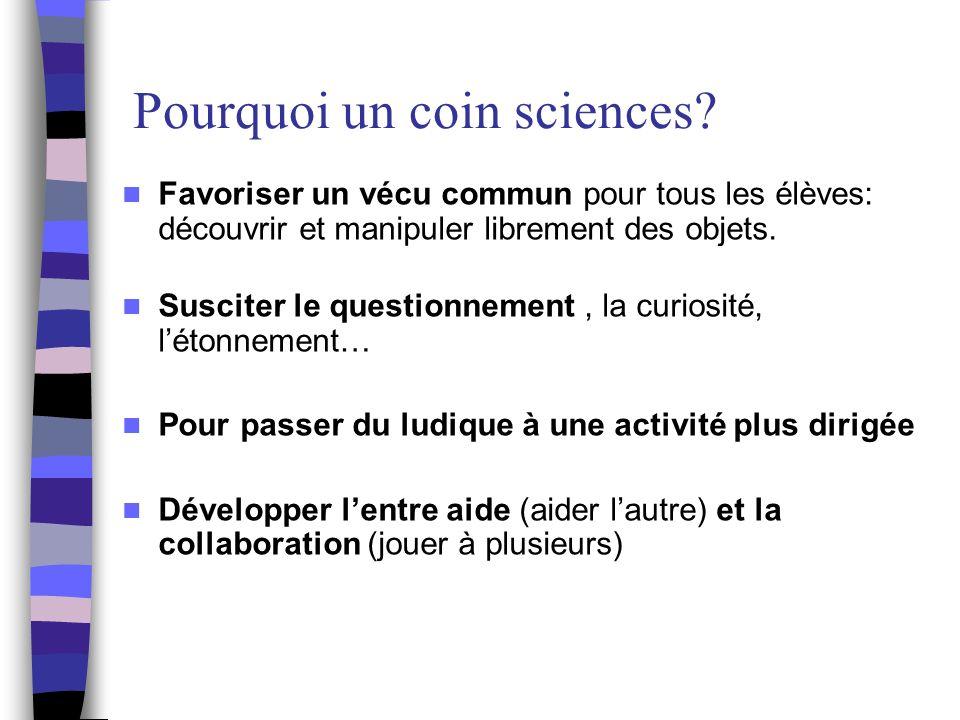 Le coin sciences