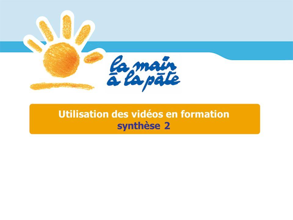 Utilisation des vidéos en formation synthèse 2