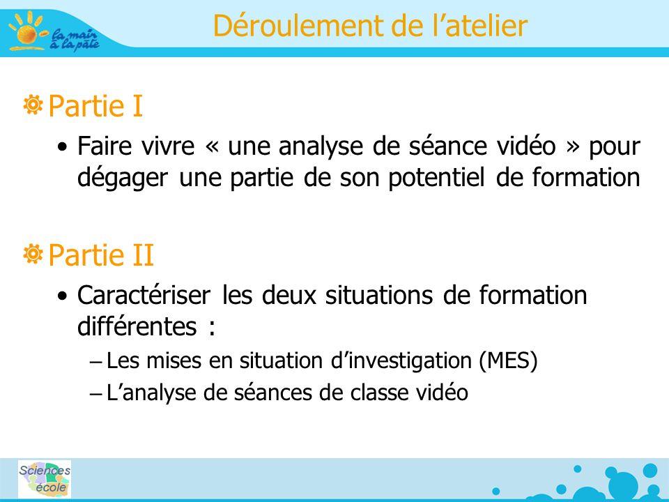 Le rôle du professeur dans un ESFI Question de départ Comment aider les enseignants à travailler sur le rôle du professeur dans le cadre dun ESFI (enseignement des sciences fondé sur linvestigation), et à partir de vidéos ?