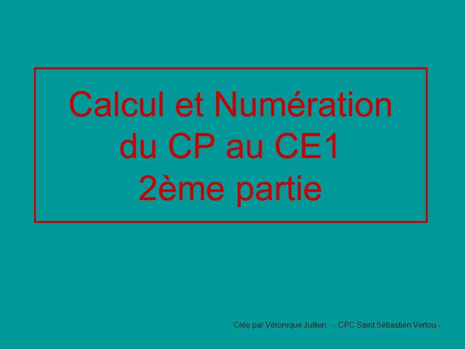 Calcul et Numération du CP au CE1 2ème partie Crée par Véronique Jullien - CPC Saint Sébastien Vertou -
