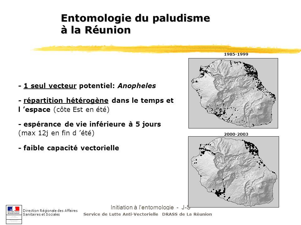 Initiation à l'entomologie - J-S DEHECQ Entomologie du paludisme à la Réunion Direction Régionale des Affaires Sanitaires et Sociales 1985-1999 2000-2