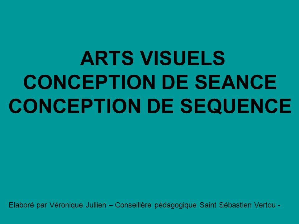 ARTS VISUELS CONCEPTION DE SEANCE CONCEPTION DE SEQUENCE Elaboré par Véronique Jullien – Conseillère pédagogique Saint Sébastien Vertou -