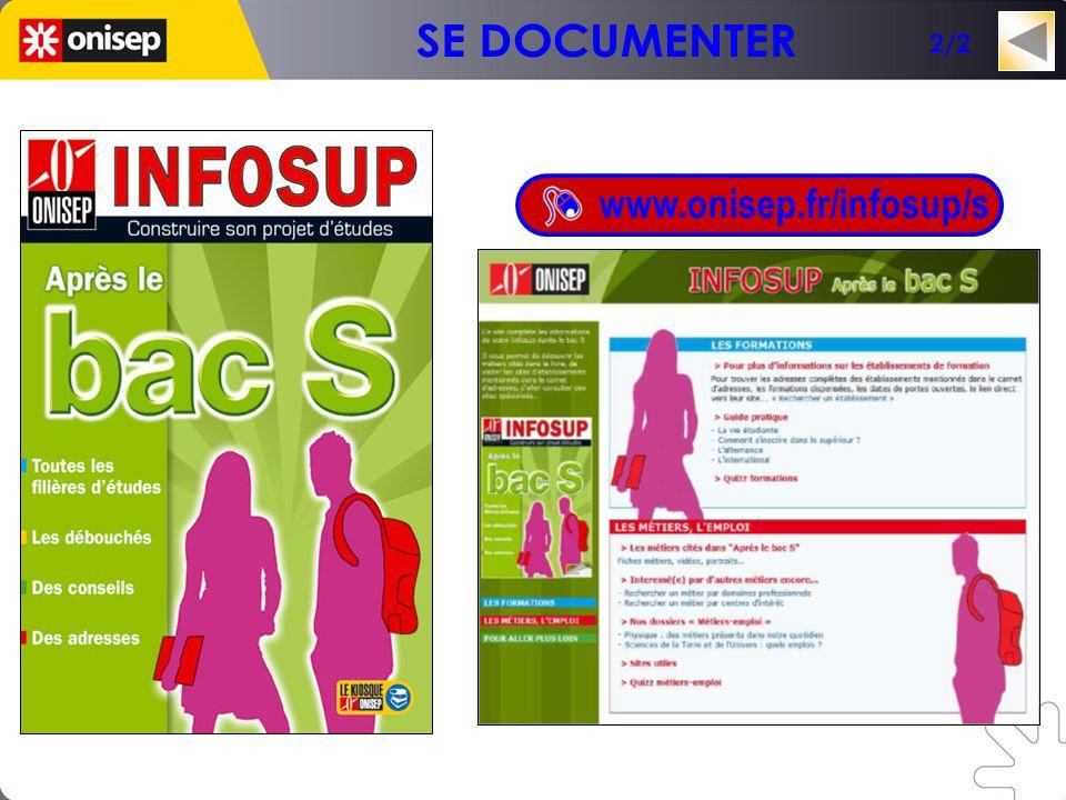 Un mini-site en lien avec la collection INFOSUP www.onisep.fr/infosup/s 2/2