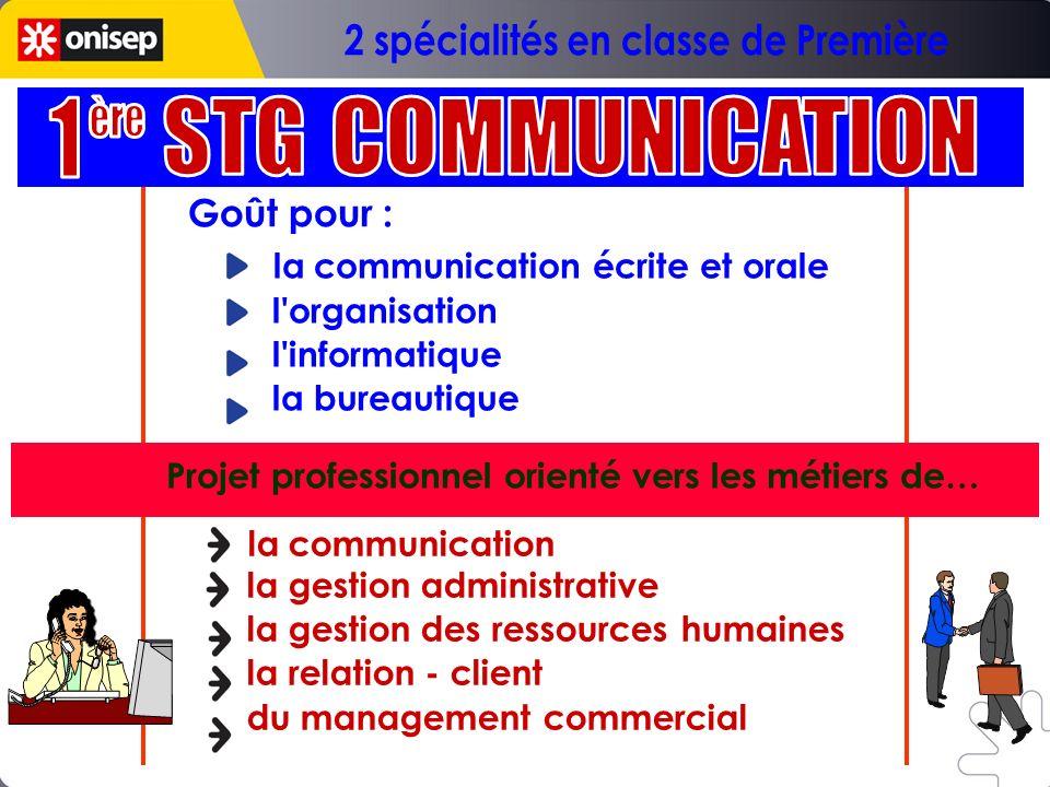 la communication écrite et orale l'organisation l'informatique la bureautique la communication la gestion administrative la gestion des ressources hum