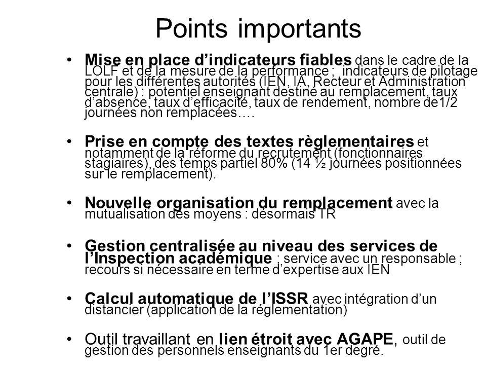 Points importants Mise en place dindicateurs fiables dans le cadre de la LOLF et de la mesure de la performance ; indicateurs de pilotage pour les dif