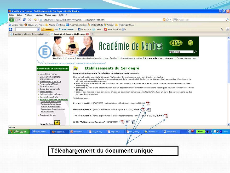 Téléchargement du document unique