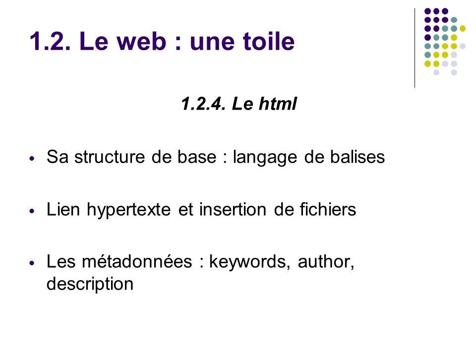 1.2. Le web : une toile 1.2.4.